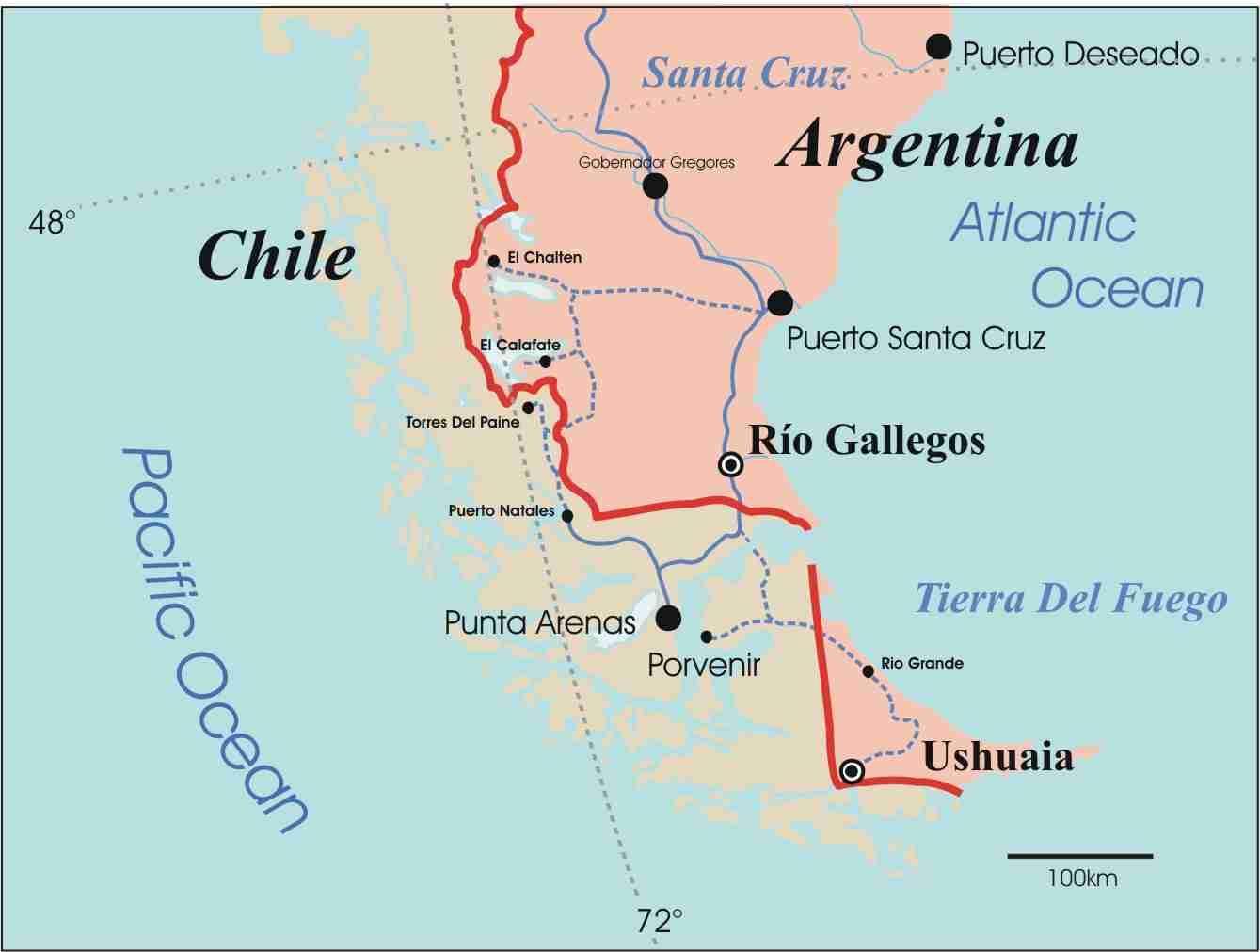 chile kart Patagonia i Chile kart   Kart over patagonia i Chile (Sør Amerika  chile kart
