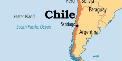 santiago kart Chile kart   Kart Chile (Sør Amerika   Amerika) santiago kart